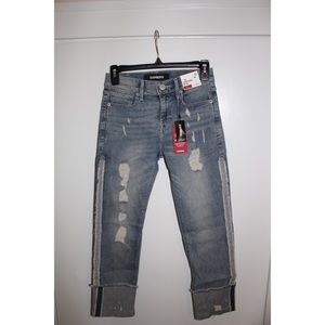 express cuffed skinny mid-rise jeans - new w tags!